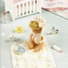 Babys Trio Crochet Pattern Annies Attic Blanket Sunsuit Bonnet