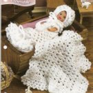 Annie's Attic Crochet Pattern :4 1/2 inch Doll Christening Ensemble Crochet Pattern