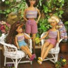 Annies Attic Cool Crop Top and Shorts Crochet Pattern for Barbie Doll