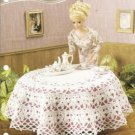 Annies Attic Barbie Doll Size Daisy Tablecloth Crochet Pattern