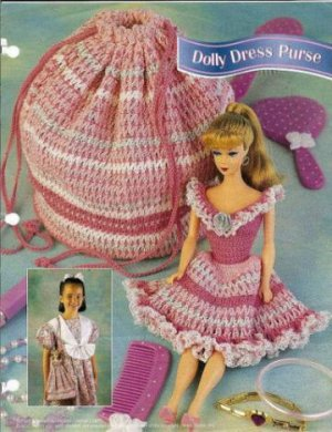Annies Attic Barbie Doll Size Crochet Dress Pattern That Changes Into A Purse