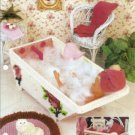 Barbie Doll Bathtub with Roses and Bathmat Plastic Canvas Pattern