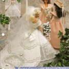 Barbie Doll Size Bridal Gown with Musical Train Plastic Canvas Pattern
