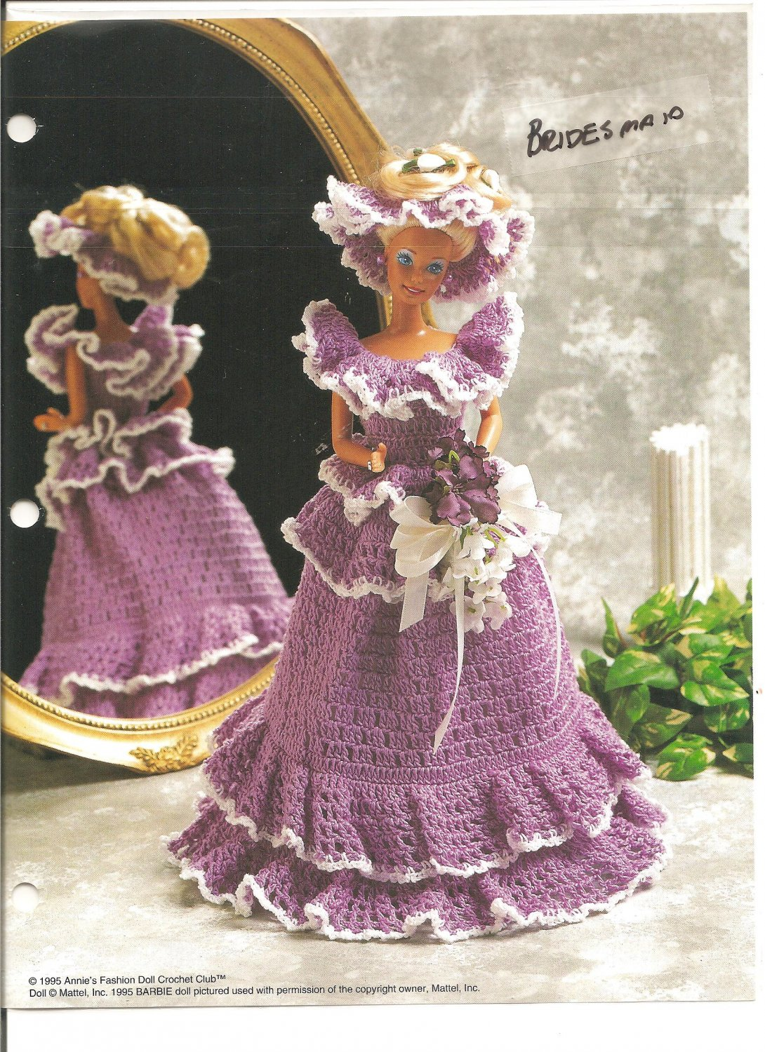 Annie S Attic Bridesmaid Dress Crochet Pattern For Barbie