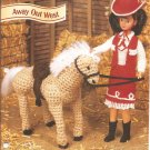 Annies Attic: Away Out West, Crochet Horse and Doll Clothes Pattern
