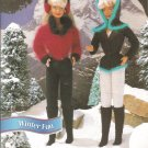 Annies Attic: Winter Fun Barbie Size Earmuffs, Winter outifts Pattern
