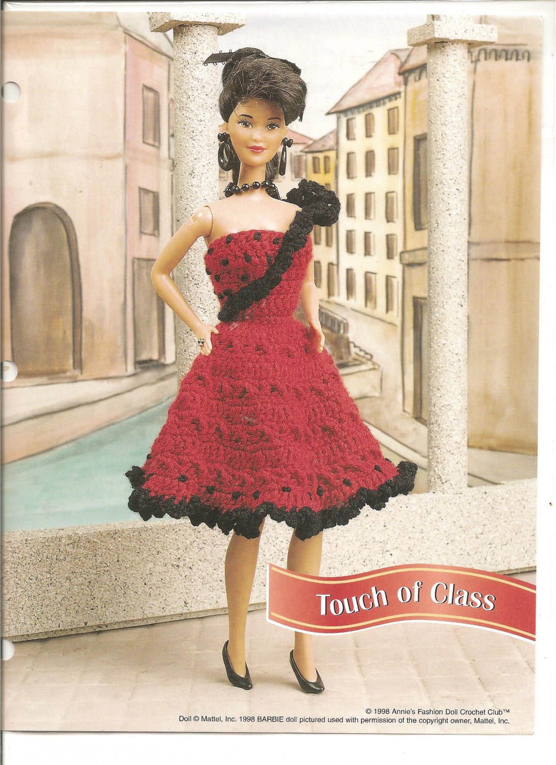 Annies Attic Touch Of Class Fancy Crochet Dress Pattern