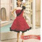 Annies Attic: Touch of Class Fancy Crochet Dress Pattern for Barbie Size Dolls