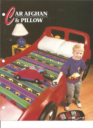 Annies Attic,  Car Afghan and Car Pillow  Crochet Pattern