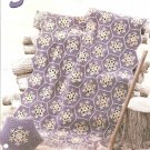 Annies Attic, Crochet Snowflakes Afghan and Pillow Pattern
