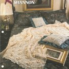 Annies Attic,  Rose of Sharon Crochet Afghan and Pillow Pattern