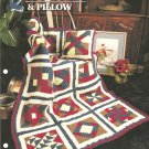 Annies Attic,  Crochet 9 Patch Quilt and Pillow Pattern