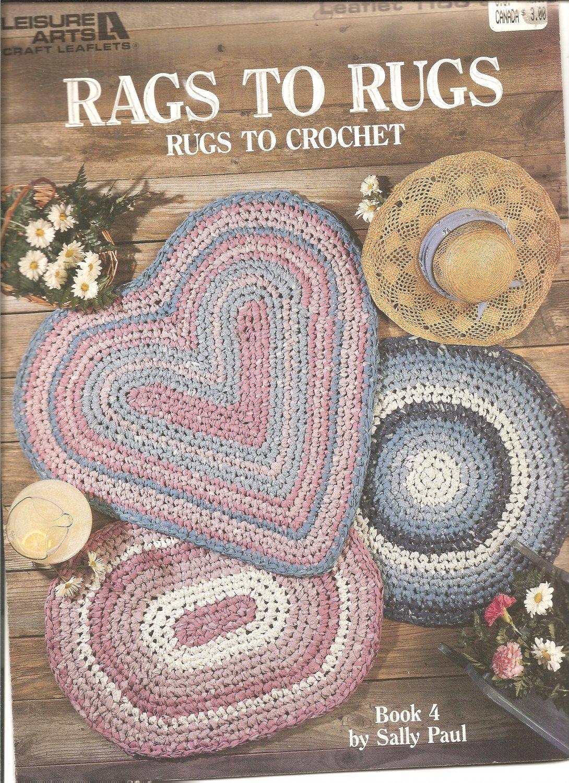 Free Crochet Pattern Leaflets : Leisure Arts Rags to Rugs Crochet Pattern, Leaflet 1186