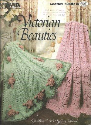 Leisure Arts 1292, Victorian Beauties Crochet Afghan Patterns