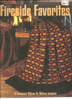 Leisure Arts 2613, Fireside Favorites, 6 Crocheted Afghan Patterns