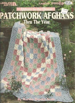 Leisure Arts 2866, 12  Patchwork Afghans Crochet Patterns
