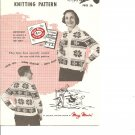 Mary Maxim 405, Ladies or Teens Snowflake Graph Sweater Knitting Pattern
