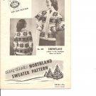 Mary Maxim 405, Ladies  Snowflake Graph 4 ply  Sweater Knitting Pattern