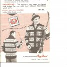 Mary Maxim 420  Men's Iroquois Graph Style Cardigan Knitting Pattern