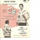 Mary Maxim 437, Unisex The Skiers  Graph Style Cardigan Knitting Pattern