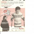 Mary Maxim 510 Snowrena  Children's Size 8 to 12  Graph Style Cardigan Knitting Pattern