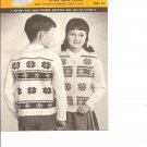 Mary Maxim 828 Starlite   Children's Size 8 to 12  Graph Style Cardigan Knitting Pattern