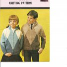 Mary Maxim 4012 Child's Size 8 to 10  Graph Style Cardigan Knitting Pattern