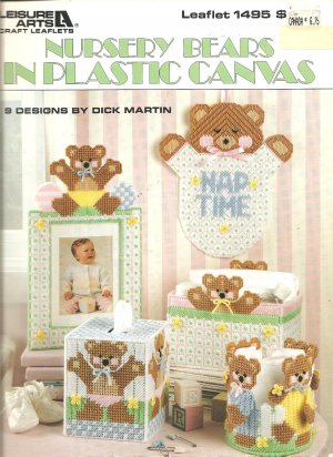 Baby Nursery Bears, Plastic Canvas Patterns, Leisure arts 1495