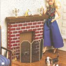 Warm Hearth  for fashion  Doll House  Plastic Canvas Pattern Annies Attic