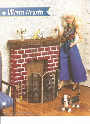 Plastic canvas pattern for doll house furniture