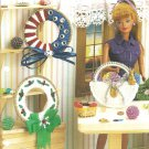 Annie's Attic Seasonal Wreaths, for Barbie Size Dolls, Plastic Canvas Patterns