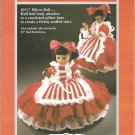 Fibre Craft peppermint Candy 10.5 and 13  Inch Doll Dress Crochet Pattern