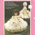 Fibre Craft Cinderella 10.5 and 13 Inch Pillow Doll Dress Crochet Pattern