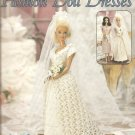 Fashion Doll Crochet Patterns, Leisure Arts 2094, Bridal Gown and More