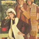 Vintage Hat and Scarves, Knit and Crochet Patterns, Leisure Arts 45