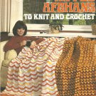Ripple Afghan Patterns,  Vintage Knit and Crochet Afghan Patterns