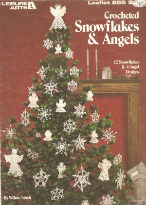 Crocheted Snowflakes and Angels Crochet Patterns, Leisure Arts 255