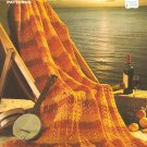 Canadian Sunset Afghan  and Softly Afghan Knitting Patterns, circa 1976