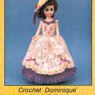 Collectible Doll Series, Crochet Dominique a 15 Inch Doll Dress