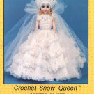 Collectible Doll Series, Crochet Snow Queen, A Gown for 15 Inch Dolls