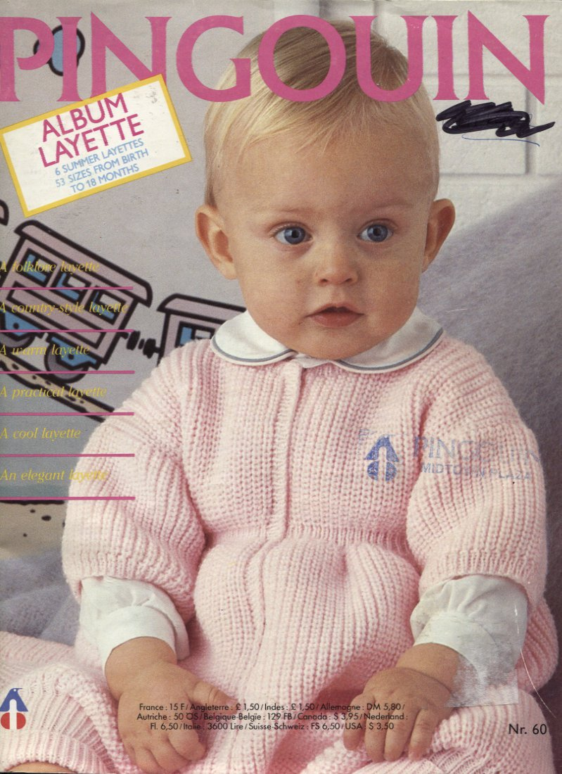 Pingouin Knitting Pattern Books : Pingouin 60, Album Layette, Gorgeous Baby Knitting Patterns