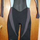 Size 8 Unisex O'Neill Hammer 3/2 Full Wetsuit in Black and Aqua