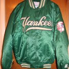 "NEW YORK YANKEES *RARE* ""IRISH"" GREEN SATIN STARTER STADIUM JACKET"
