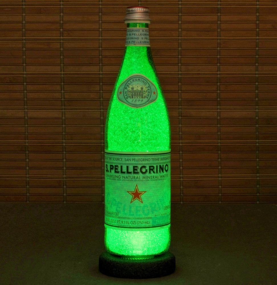 San Pellegrino Big 24oz.LED  Bottle Lamp Light Bar Sign Man Cave Sparkle Italy