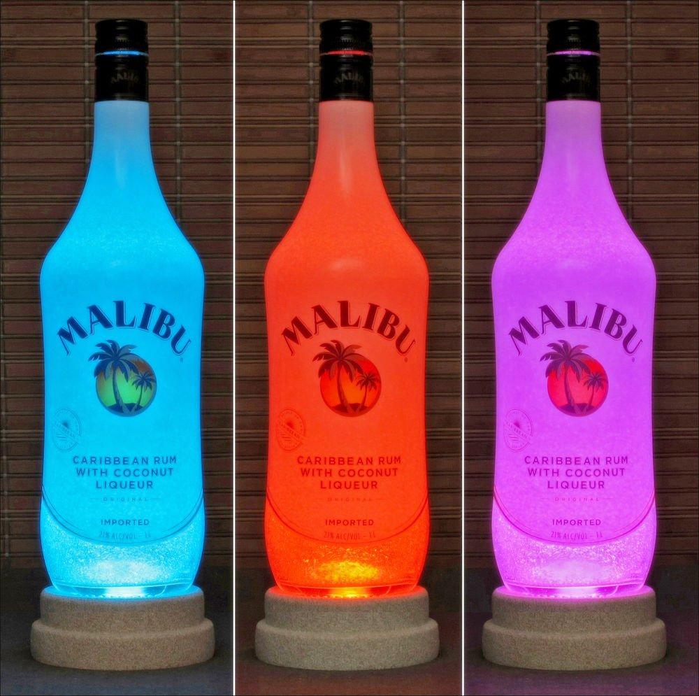 Malibu Rum Remote Controlled Liquor Bottle Lamp Color Changing LED Bar Light