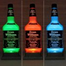 Evan Williams 1.75 Liter Whisky Remote LED Color Change Bottle Lamp Bar Light