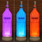 Finlandia Vodka 1 Liter LED Color Changing Remote Control Bottle Lamp Bar Light