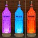 Finlandia Vodka 1 Liter LED Color Changing Remote Control Bottle Lamp Bar Light