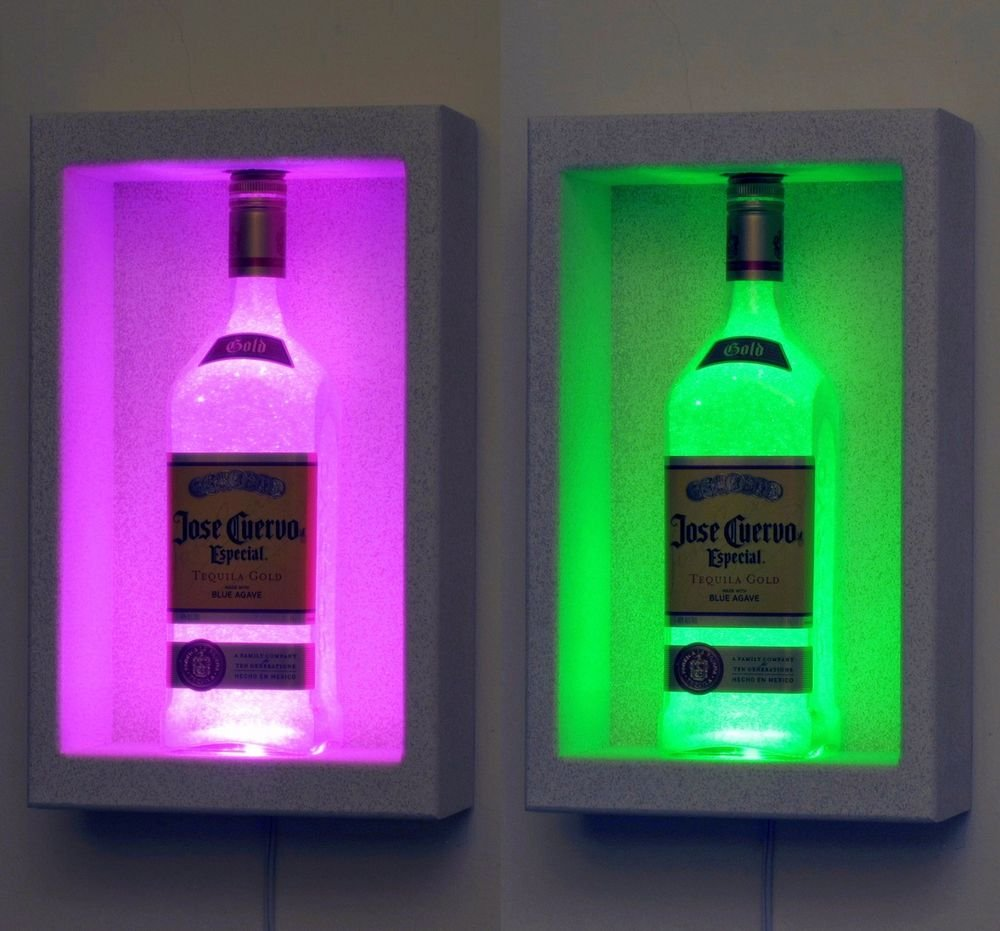 Jose Cuervo Tequila Wall Mount  Remote Color Change Bottle Lamp Bar Light LED