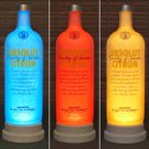 Absolut Vodka Citron Remote Controlled Color Changing LED Bottle Lamp Bar Light